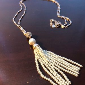 CHARTER CLUB Beaded Tassel Necklace